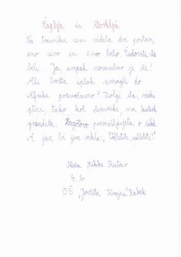 Neža Rikke Rutar: Čaplja in štorklja