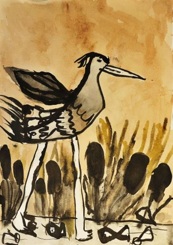 Katarina Lampe: Siva čaplja hodi po jezeru