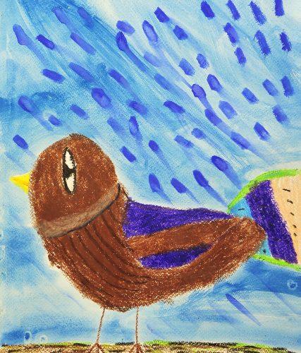 Tjaša Malenšek: Vrabček v dežju