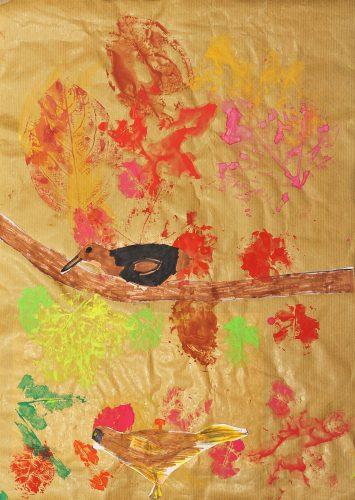 Veronika Šuligoj: Skrivnostne ptice in jesenske barve