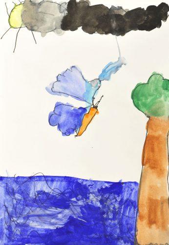 Lana Fifolt: Vodomec prileti iz vode, ko je ujel ptico
