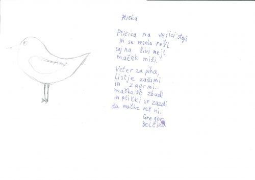 Gregor Bolčina: Ptička