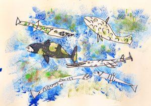 Vrtec Martin Krpan Cerknica, skupina Sovice: Zima na jezeru