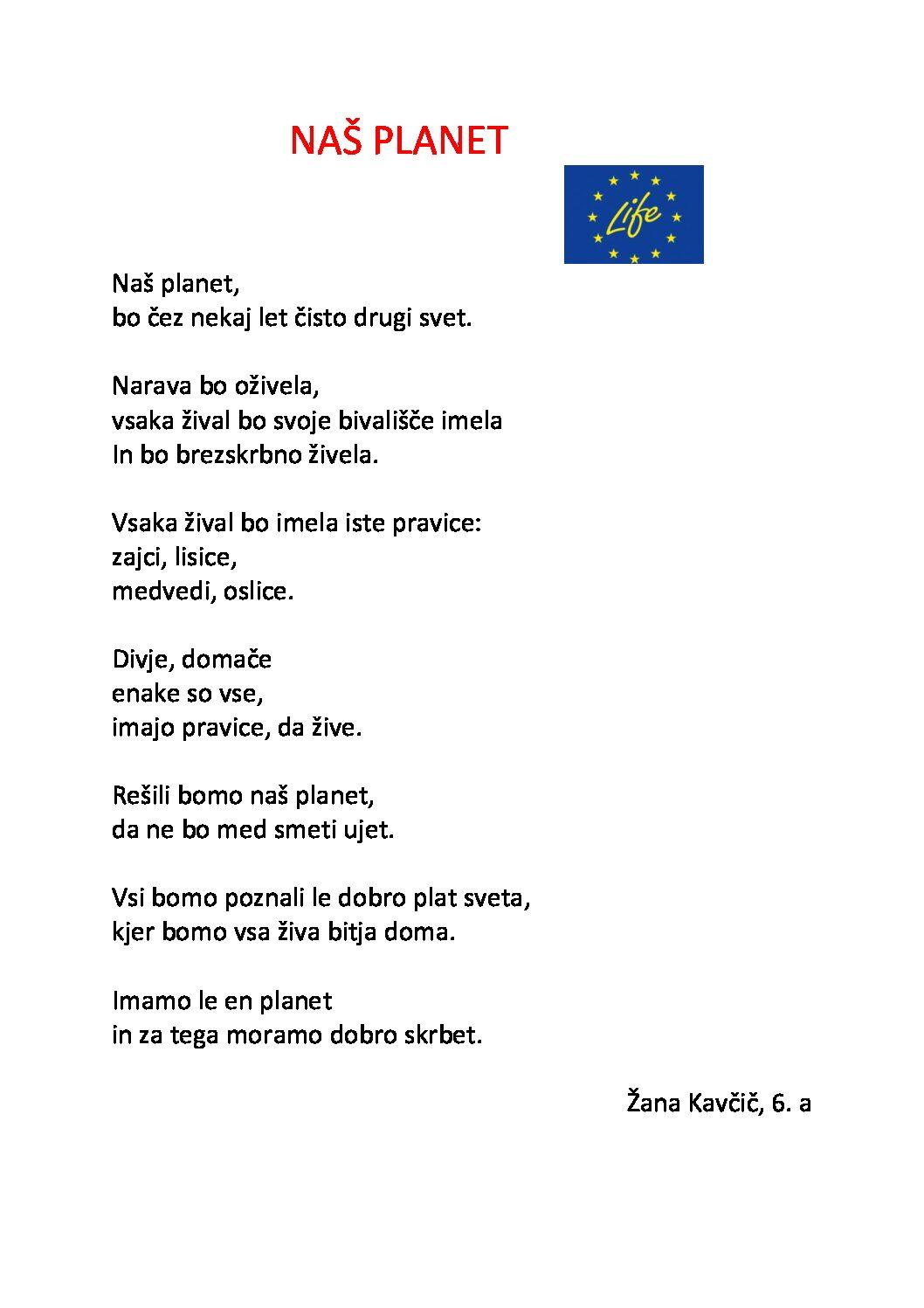Žana Kavčič: Naš planet