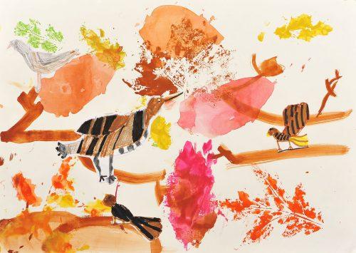 Nika Stibilj: Skrivnostne ptice se skrivajo med jesenskim listjem
