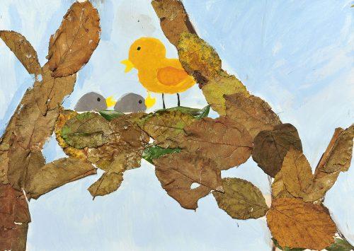 Zoja Bolterstein Leskovar: Ptičji mladiči se hranijo