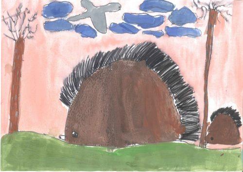 Ajda Škerbot: Mama ježevka in mali jež