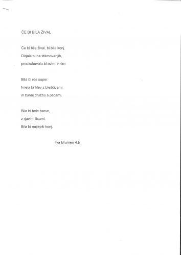 Iva Brumen: Če bi bila žival