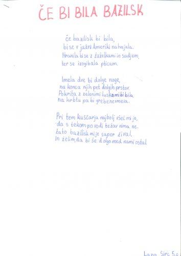 Lana Sirc: Če bi bila bazilisk