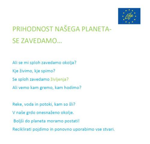 Lina Otrin: Prihodnost našega planeta - SE ZAVEDAMO?