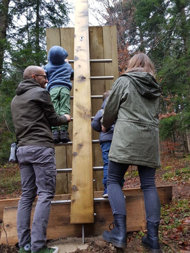 Info točka in plezalo obenem, sprehajalna pot Drvošec