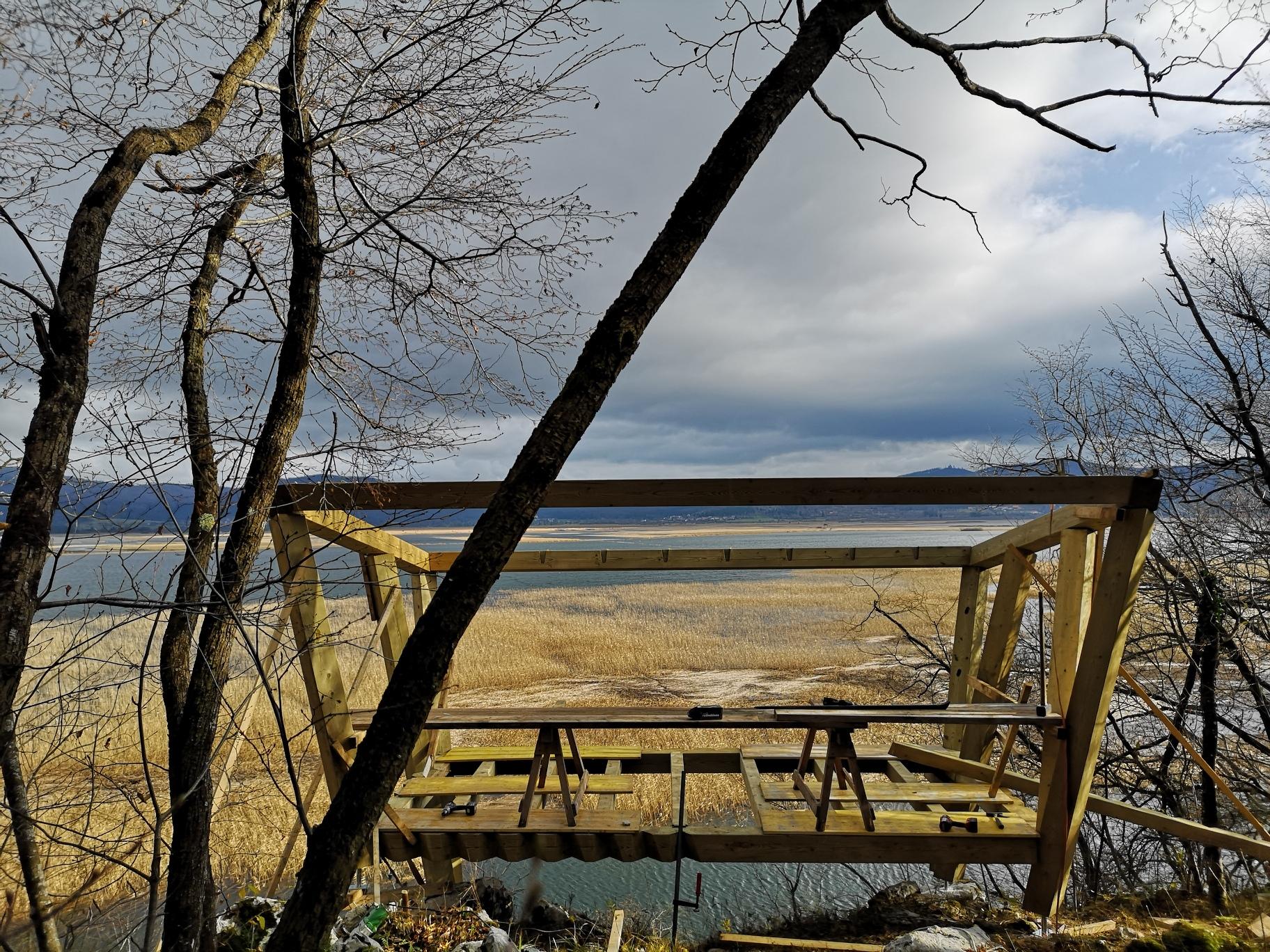 Opazovalnica za ptice nad Cerkniškim jezerom