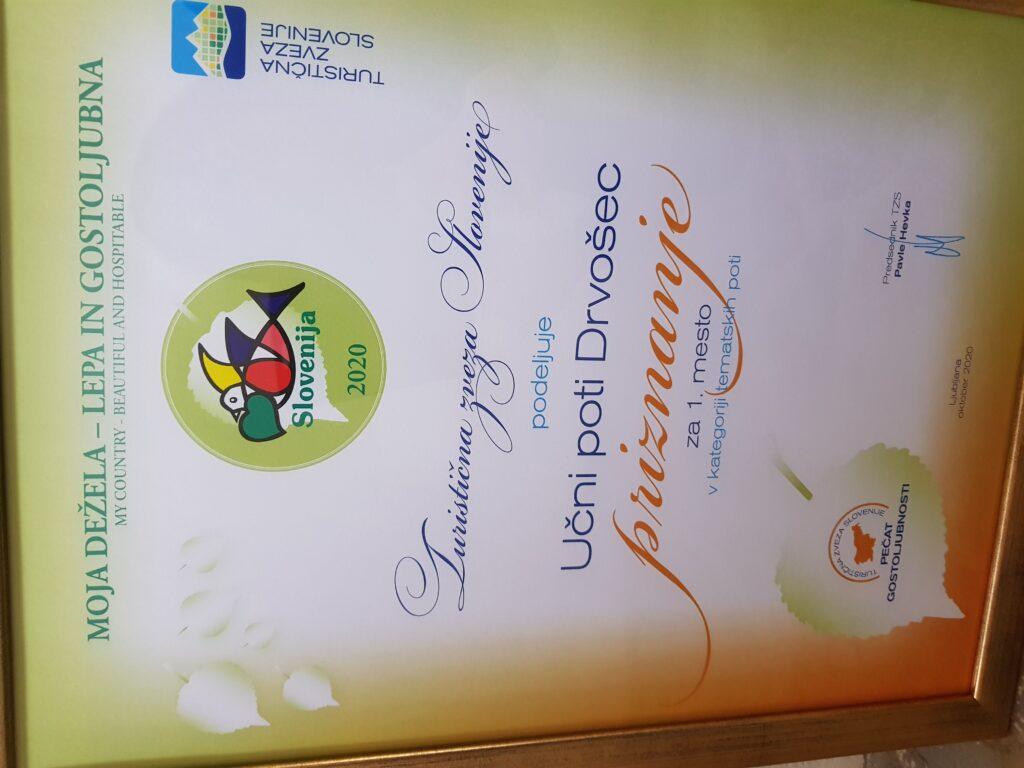 The winner`s plaque