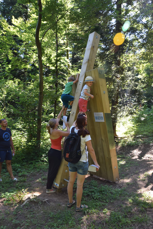 Info točka ris, ki je obenem tudi plezalo. Foto NRP