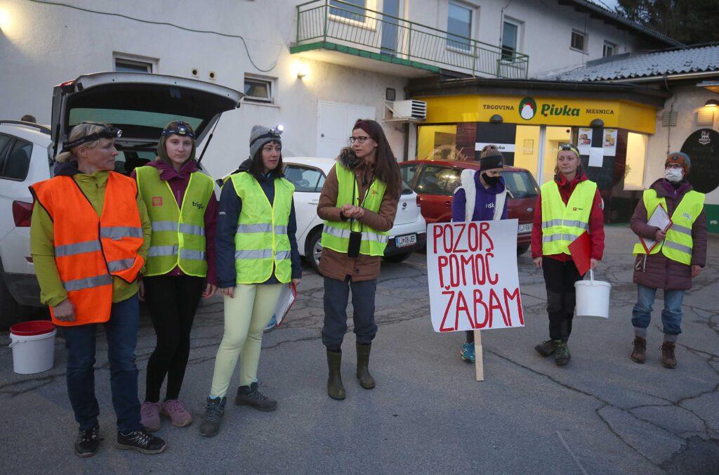 Reševalne akcije so se udeležili tudi sodelavci LIFE Stržen. Foto Ljubo Vukelič